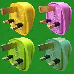 Coloured 3 pin plugs