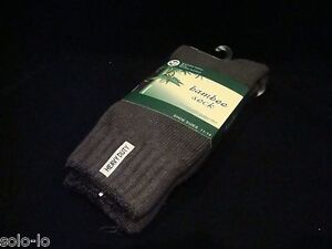 6 Pairs Mens Bamboo Heavy Duty Thick Work Socks Size 11-14 GREY yarn 75%  New