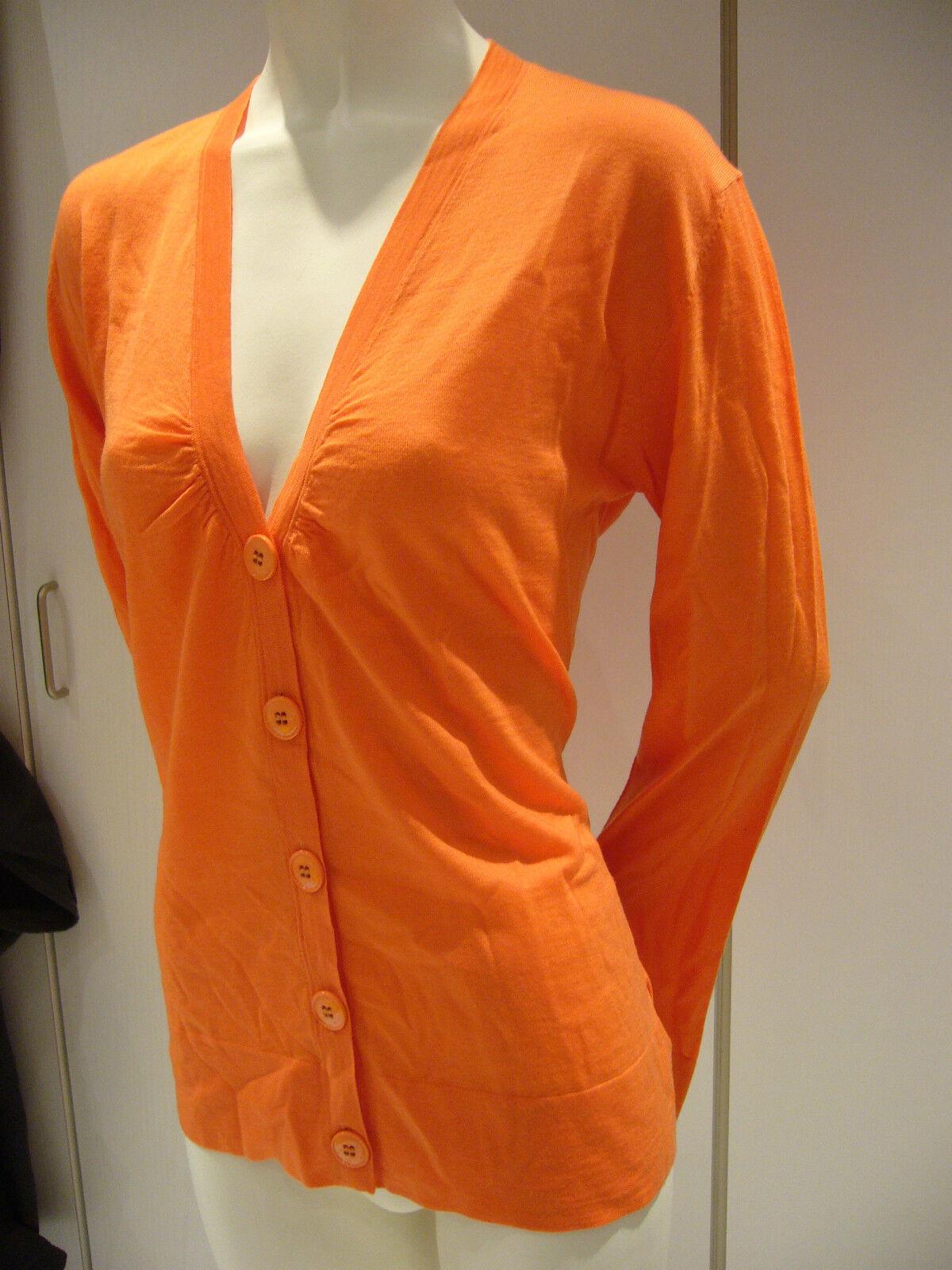 Bogner Cardigan Arancione Lana Lana Lana Vergine Tgl 40 38 UVP Nuovo e83c5f