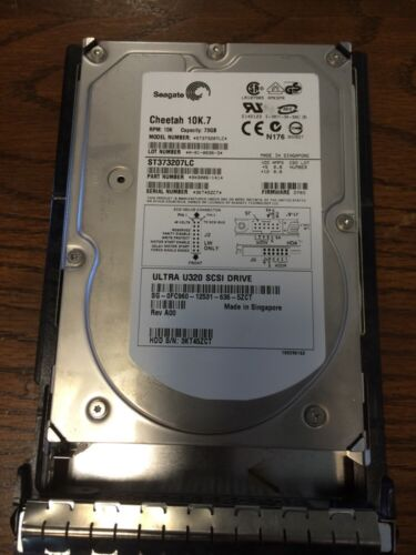 """Seagate Cheetah 10K.7 ST373207LC 73GB 3.5/"""" HDD With Caddy"""