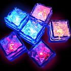 1pc Liquid Sensor Flashing LED Light Up Ice Cubes Bar Drink DIY Decorative