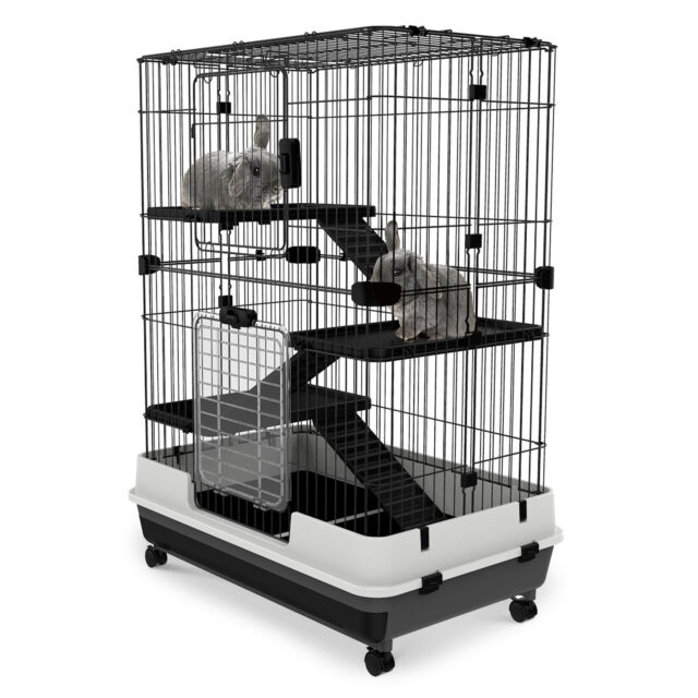 Pawhut 4 Level Indoor Home Rabbit Hutch Portable Small Animal Cage Pet Supplies For Sale Online Ebay