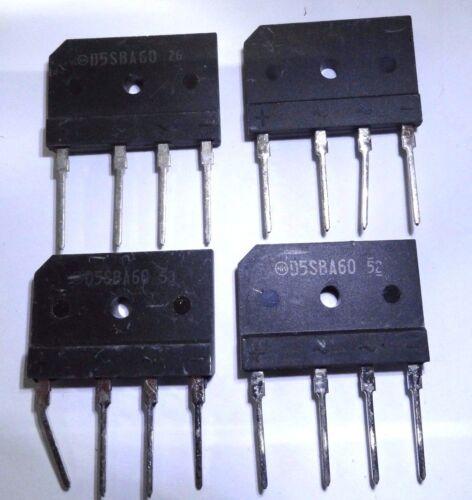 4 x D5SBA60 6A 600V inline  bridge rectifier