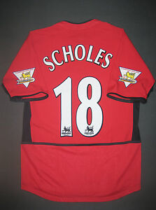 finest selection 4e870 b461f Details about 2002/2003/2004 Nike Manchester United Paul Scholes Jersey  Shirt Kit England