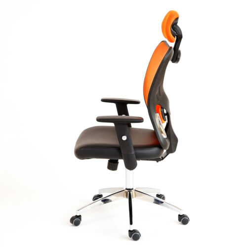 Drehstuhl Profi-Bürostuhl Pamplona XXL 150kg belastbar Kunstleder orange