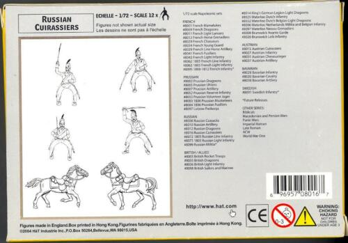HaT Miniatures 1//72 RUSSIAN CUIRASSIERS Figure Set