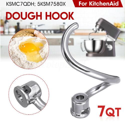 Dough Hook Attachment Accessory For KitchenAid Mixer 7 Quart KSMC7QDH 5KSM7580X