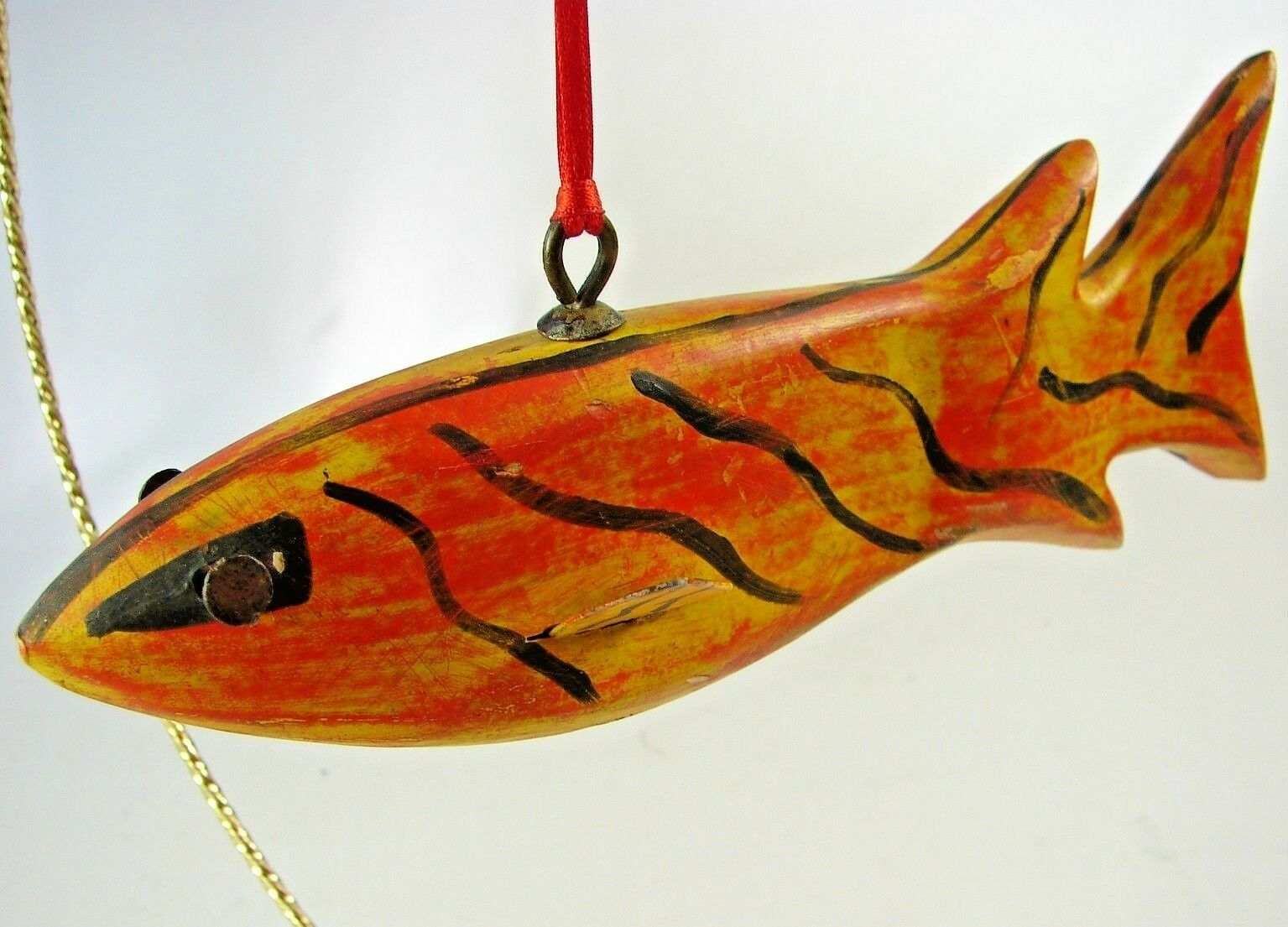 ICE  FISHING & SPEARING DECOY - Vintage North Central Working U.S. Folkart Lure  get the latest
