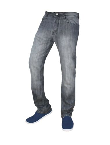 Mens Slim Fit Jeans Straight Leg Basic Denim Trouser Pants Regular Short Long