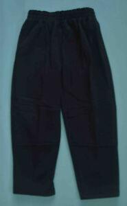 NEW-Fleece-Pants-unisex-School-Uniform-Double-Knee-Black-Size-5-6-8-10-12-14-16