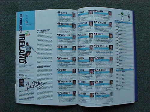 2002 World Cup Finals Programme Autographed by Mick McCarthy MINT CONDITION