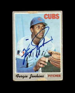 Fergie Jenkins Hand Signed 1970 Topps Chicago Cubs Autograph