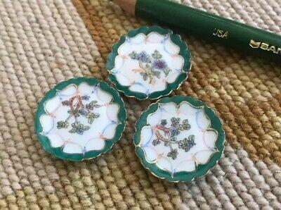 Bespaq Dollhouse Miniature 3 Porcelain China Dish Plates 593