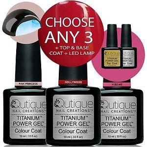 QUTIQUE-Professional-Gel-Nail-Polish-Colour-Kit-Set-LED-Lamp-ANY-3-Colours