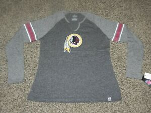newest collection c69ce 9964a Details about WASHINGTON REDSKINS LONG SLEEVE SHIRT WOMEN'S LARGE MAJESTIC  TEAM APPAREL NEW!