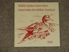 Canada Wildlife Habitat Conservation Stamp 1988, MNH