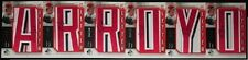 2006 6x BRONSON ARROYO AUTO FULL NAME SP AUTHENTIC BY THE LETTER COLOR PATCH WOW
