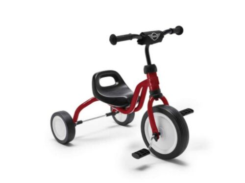 Kids Chilli Red MINI Genuine Tricycle Bicycle Silent Wheels For 18 Months