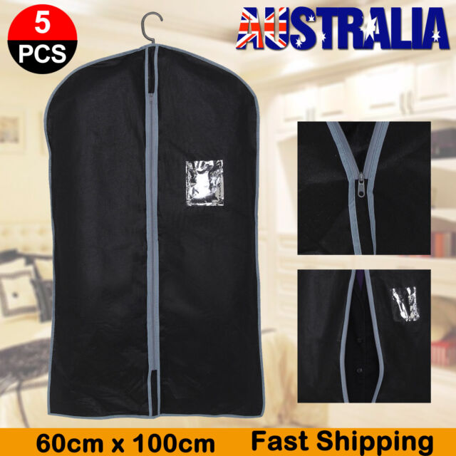 e09614cc59 5x Suit Dress Clothing Dust Cover Bags Jacket Wardrobe Storage Coat  Protector for sale online