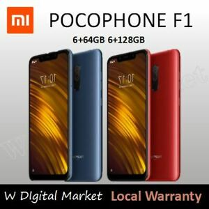 "Xiaomi Pocophone F1 128GB (FACTORY UNLOCKED) 6.18"" 6GB RAM Black Blue Red,Global"