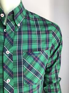 Ben Sherman Shirt, Manchester Plaid, Small, Excellent Condition