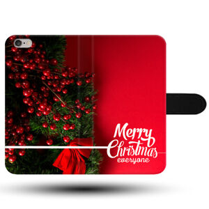 Merry-Christmas-Happy-New-Year-Magnetic-Clasp-Holder-Fabric-Phone-Case-Cover