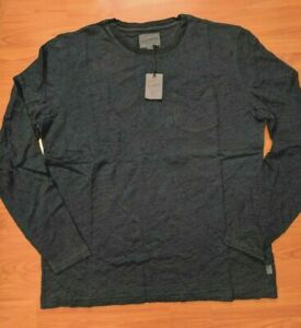 49-NWT-LUCKY-BRAND-Men-039-s-Indigo-Long-Sleeve-Pocket-Crew-T-Shirt-size-Large