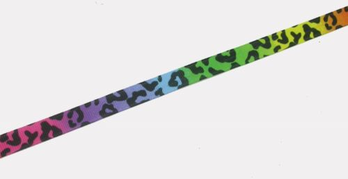 10mm /'Animal Print Grosgrain Ribbon Trim x  3 yards various colourways