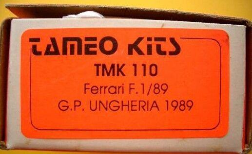 Tameo 1 43 Ferrari F189 Ungheria Gp 1989 Metall Set