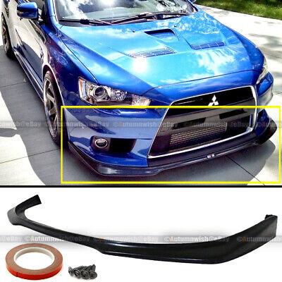 Urethane Ralliart Style Front Bumper Lip Fits 08-15 Mitsubishi EVO 10