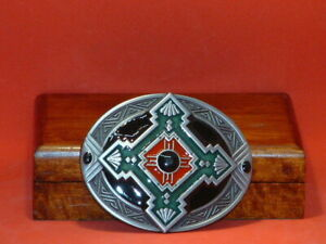 Pre-Owned-Aztec-Style-Belt-Buckle