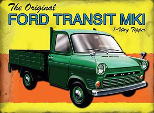 Ford Transit Mk1 Pickup Van Large Metal Tin Sign Classic Garage Mark 1 Tipper