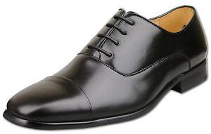 Nouveau 10 12 7 Uk Hommes Noir Chaussures 11 7 9 Taille Capped 8 Cuir Fashion fyY6bvI7g