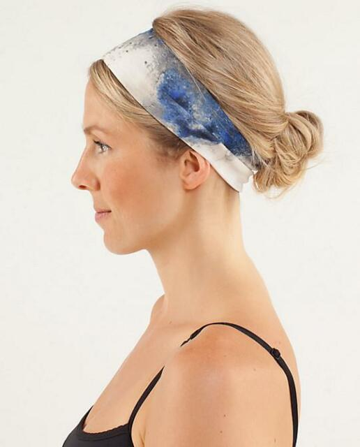 LULULEMON~MILKY WAY PRINT *LUCKY LUON* HEADBAND~RUNNING~YOGA~GYM WORKOUT~RARE