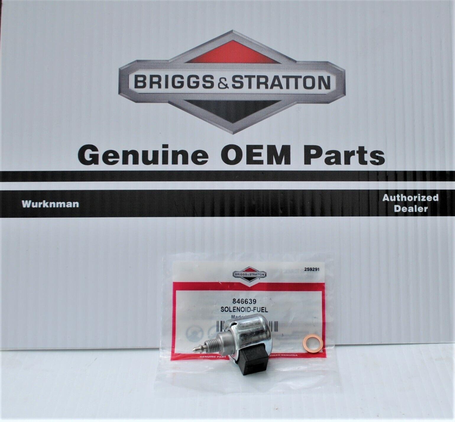 Genuine OEM Briggs Stratton 846639 motor de combustible & Cierre Solenoide