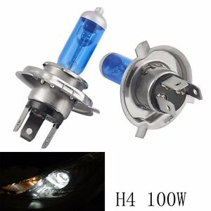 1 Pair 12v 100w H4 9003 Super Bright White Fog Halogen