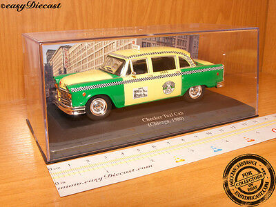 CHECKER TAXI CAB 1:43 CHICAGO (USA) 1980 MINT!