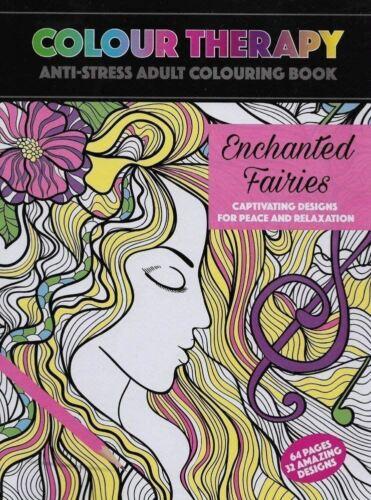 PMS Colour Therepay Anti Stress Colouring Enchanted Fairies Design Colour Book