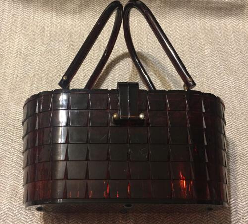 Vintage Box Purse Handbag, Plastic Acrylic Box Pur
