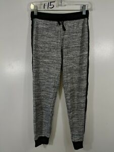 Danskin-Now-Girls-Youth-Size-Large-10-12-Grey-Sweat-Joggers-Black-F15