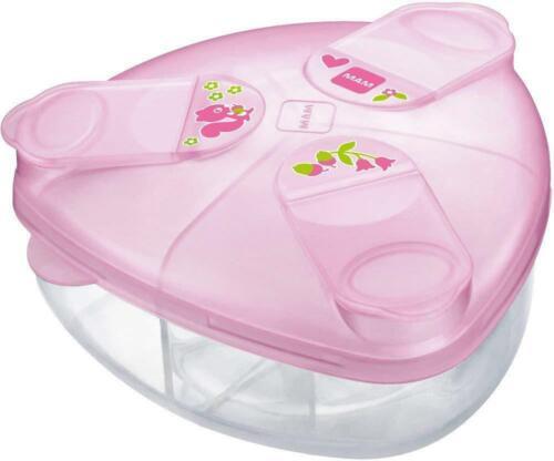 MAM MILK POWDER BOX PINK Newborn Baby Bottle Feeding BN