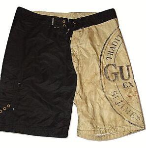 738e9c4393 Guinness Beer Irish Stout Mens Black Tan Board Swim Trunks Shorts ...