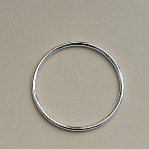 925,sterling Silver,hollow Round Tube Bangle Bracelets,70mm~78mm Le Plus Grand Confort