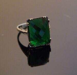 Turkish-Handmade-Sterling-Silver-925-Jewelry-Emerald-Ladies-Ring-7-8-9