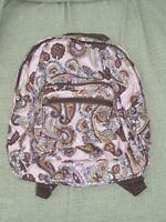 Toddler Child Girls Preschool Small Backpack Purse Pink Brown Paisley