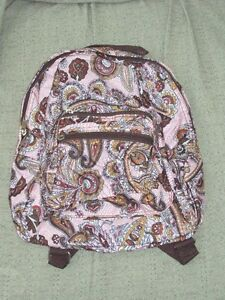 TODDLER Child Girls PRESCHOOL SMALL Backpack Purse Pink Brown Paisley NEW