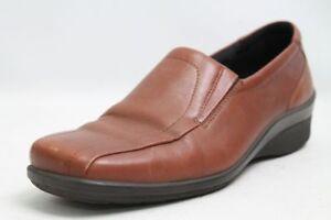 Ecco-Slipper-Schuhe-braun-Leder-Gr-39-UK-6