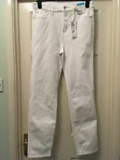 Brand NEW M/&S Ladies White Straight High Rise Magic Jeans Size 14