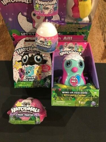 Plush /& MORE ! EGGLIDER W// Lights /& Sound 4X Hatchimals COMBO-2-Pack EGGCASE
