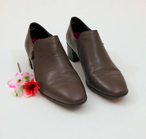 EUC-US-11W-Munro-Brown-Leather-Shoes-Booties-US-11W
